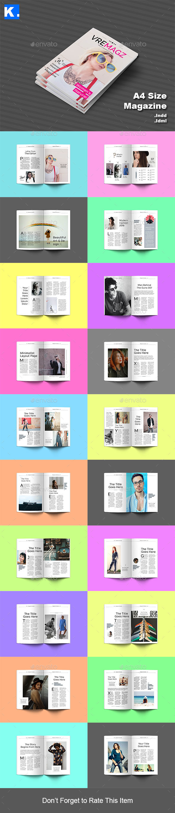 Indesign Magazine Template 9 by kootoot | GraphicRiver