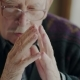 Worried Old Man Banging His Fingers Together - VideoHive Item for Sale