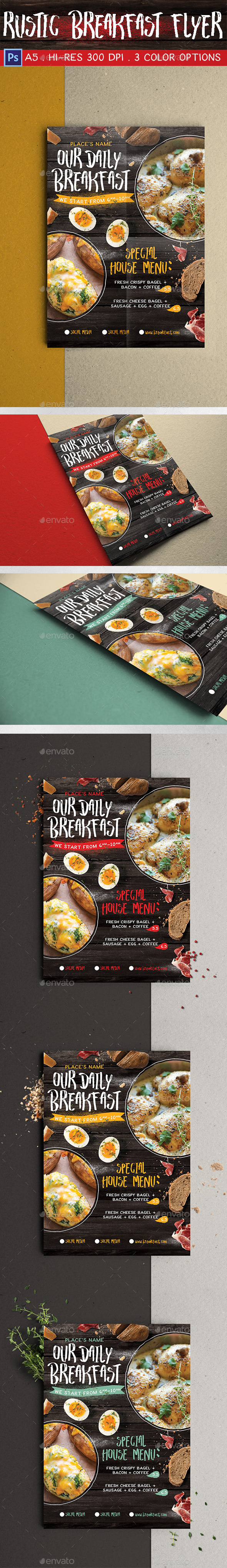 Rustic Breakfast Flyer - Miscellaneous Events