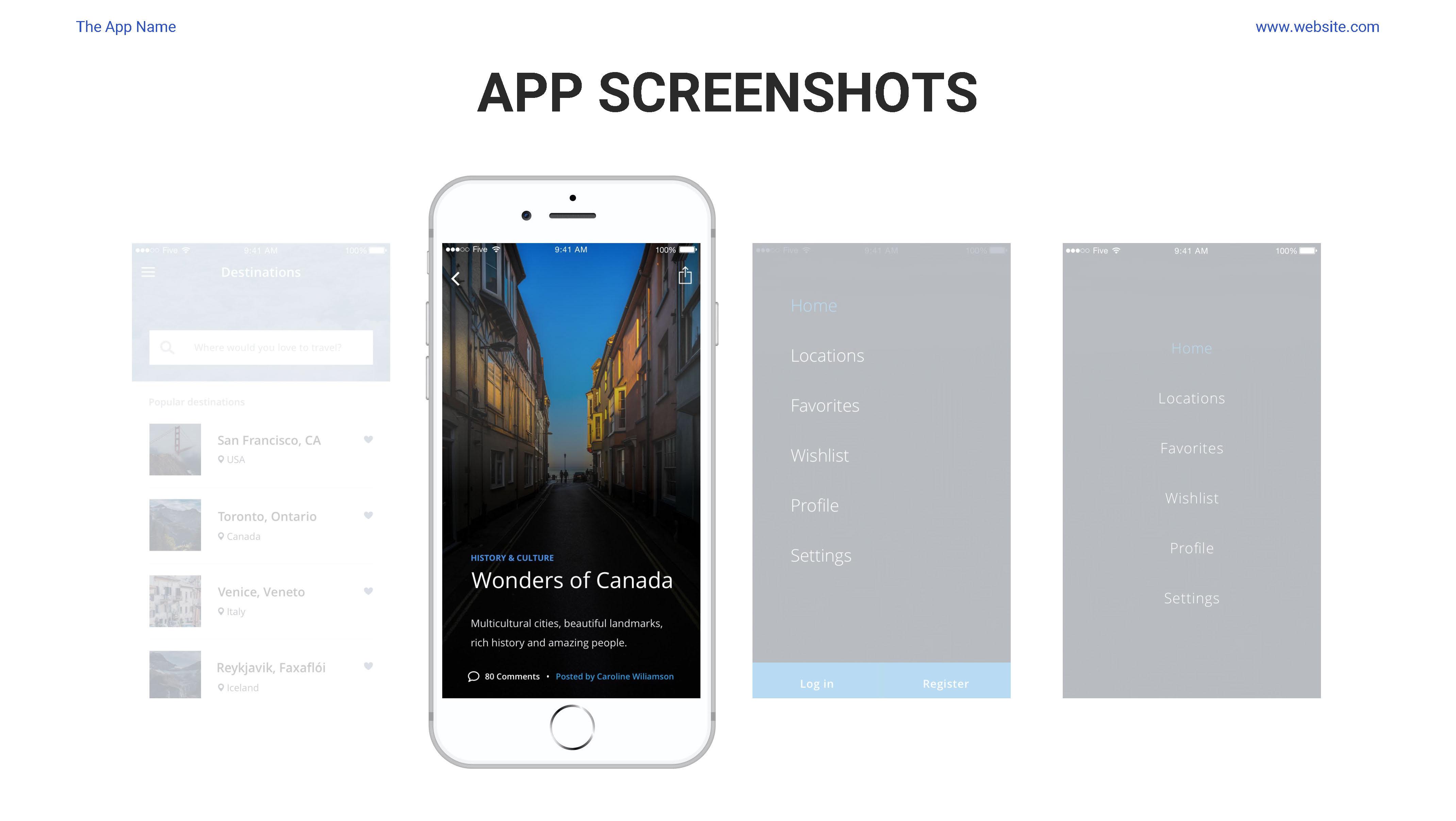 Mobile App Showcase Google Slides Pitch Deck by Spriteit   GraphicRiver