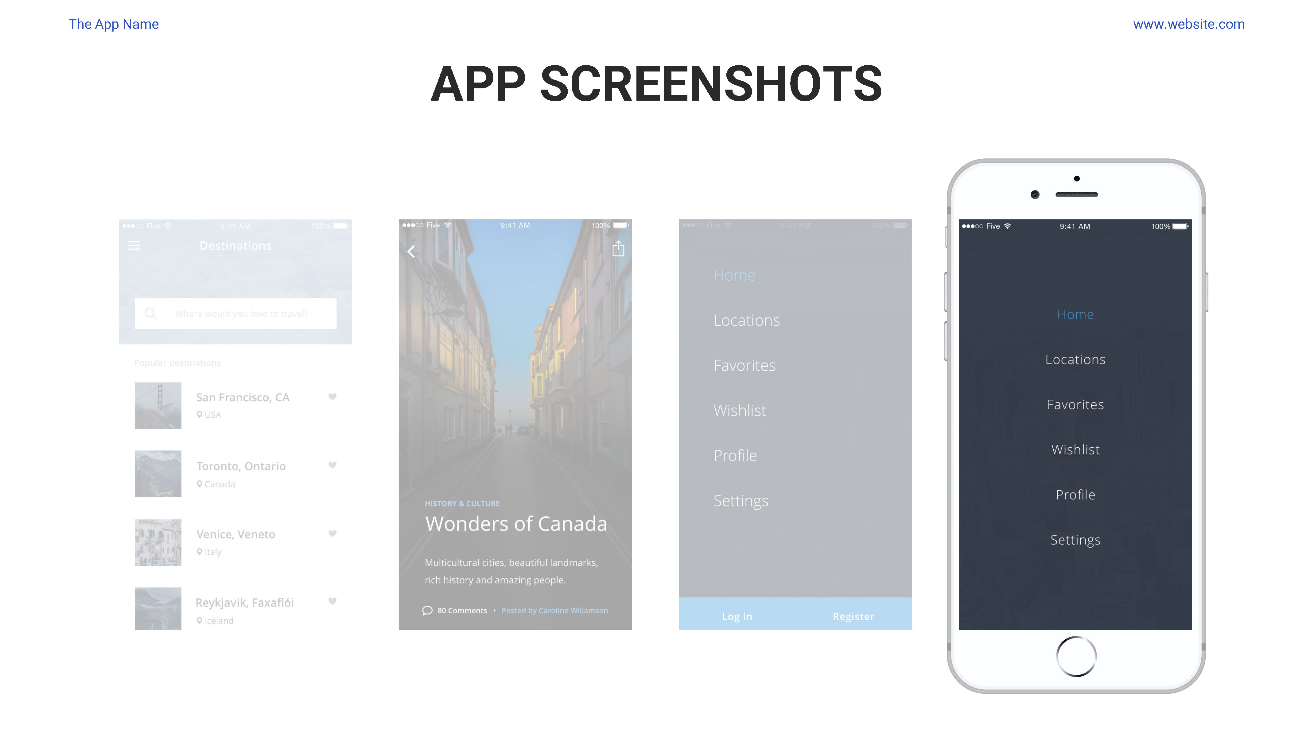Mobile App Showcase Google Slides Pitch Deck by Spriteit | GraphicRiver
