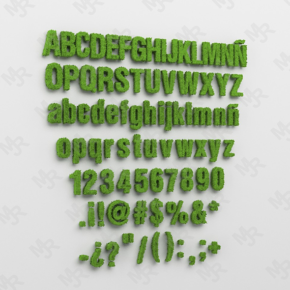 Alphabet1 - 3DOcean Item for Sale