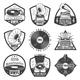 Vintage Monochrome Gramophone Labels Set - GraphicRiver Item for Sale