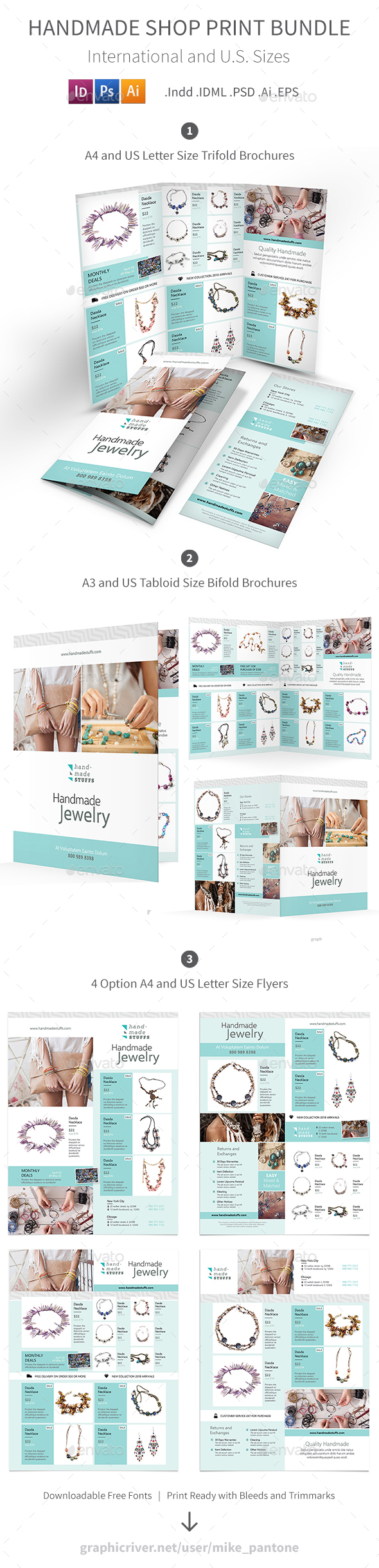 Handmade Shop Print Bundle - Informational Brochures