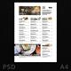 Menu Minimalist Photography Design - GraphicRiver Item for Sale