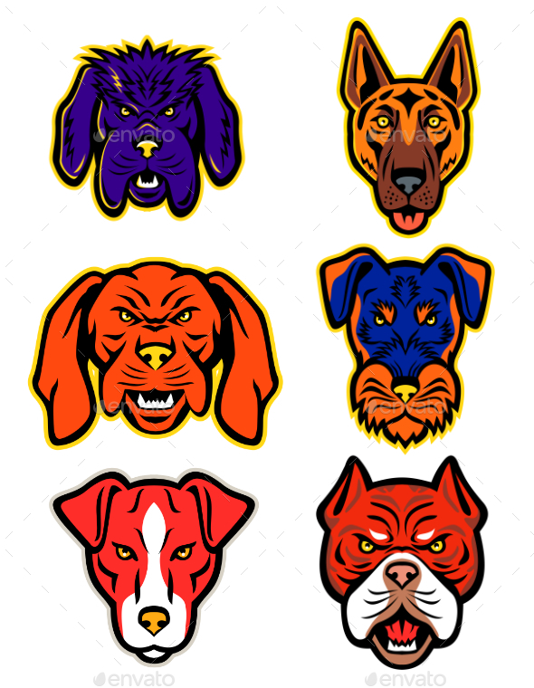 Working Dogs Mascot Collection Set - Animals Characters