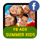 Summer Kids Camp Facebook Ad Banners - AR - GraphicRiver Item for Sale