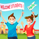 Welcome New Students to University. - GraphicRiver Item for Sale