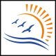 Ocean Birds Sun Logo - GraphicRiver Item for Sale