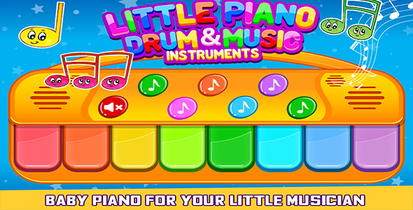 Little Piano Drum And Music Game For Kids + Admob + Android Studio - CodeCanyon Item for Sale