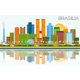 Brasilia Brazil City Skyline with Color Buildings