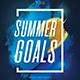 Summer Goals Party Flyer