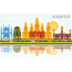 Kanpur India City Skyline with Color Buildings, Blue Sky and Reflections - GraphicRiver Item for Sale