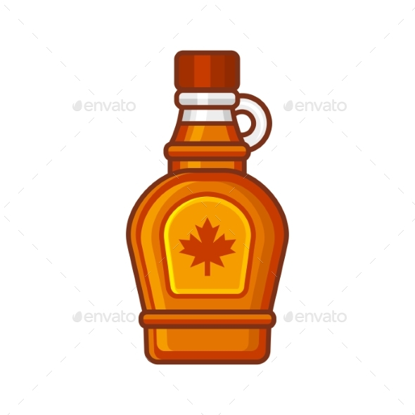 Maple Syrup Bottle Icon - Food Objects