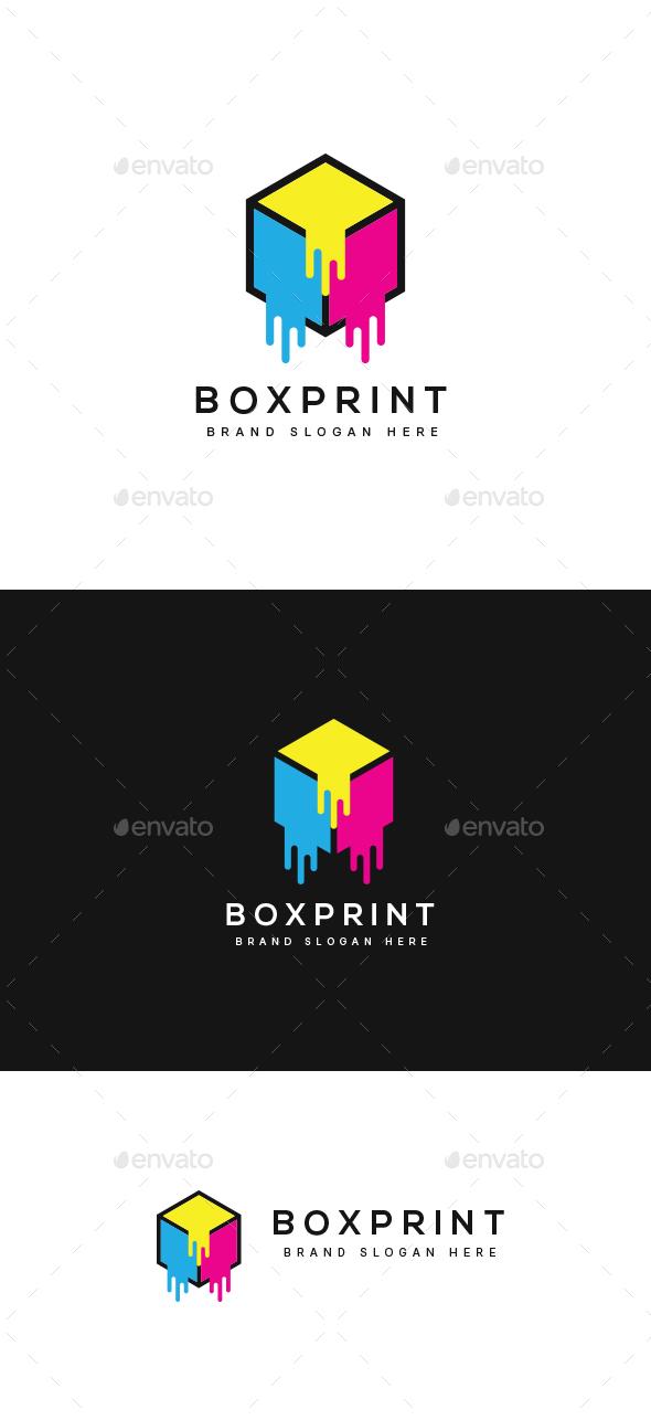 CMYK Box Printer Logo - Abstract Logo Templates