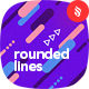 Movement of Rounded Lines Seamless Patterns / Backgrounds
