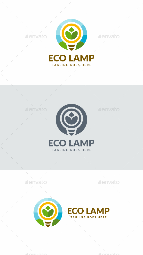 Eco Lamp - Objects Logo Templates