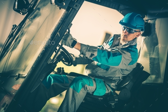 Forklift Truck Operator - Stock Photo - Images