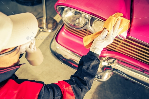 Classic Car Restoration - Stock Photo - Images