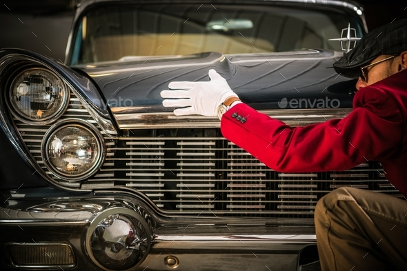 Classic Car Appraisal - Stock Photo - Images