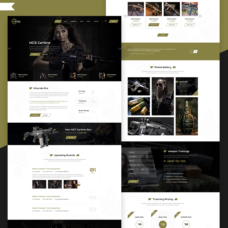 Weapon Store - Gun Shop HTML Template - 19