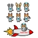 Space Dog Mascot