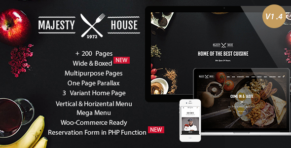 Majesty - Responsive Restaurant HTML5 Template - Restaurants & Cafes Entertainment