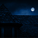 Gothic House Roof With Full Moon - VideoHive Item for Sale