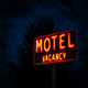 Motel Sign By Tropical Plant At Night - VideoHive Item for Sale