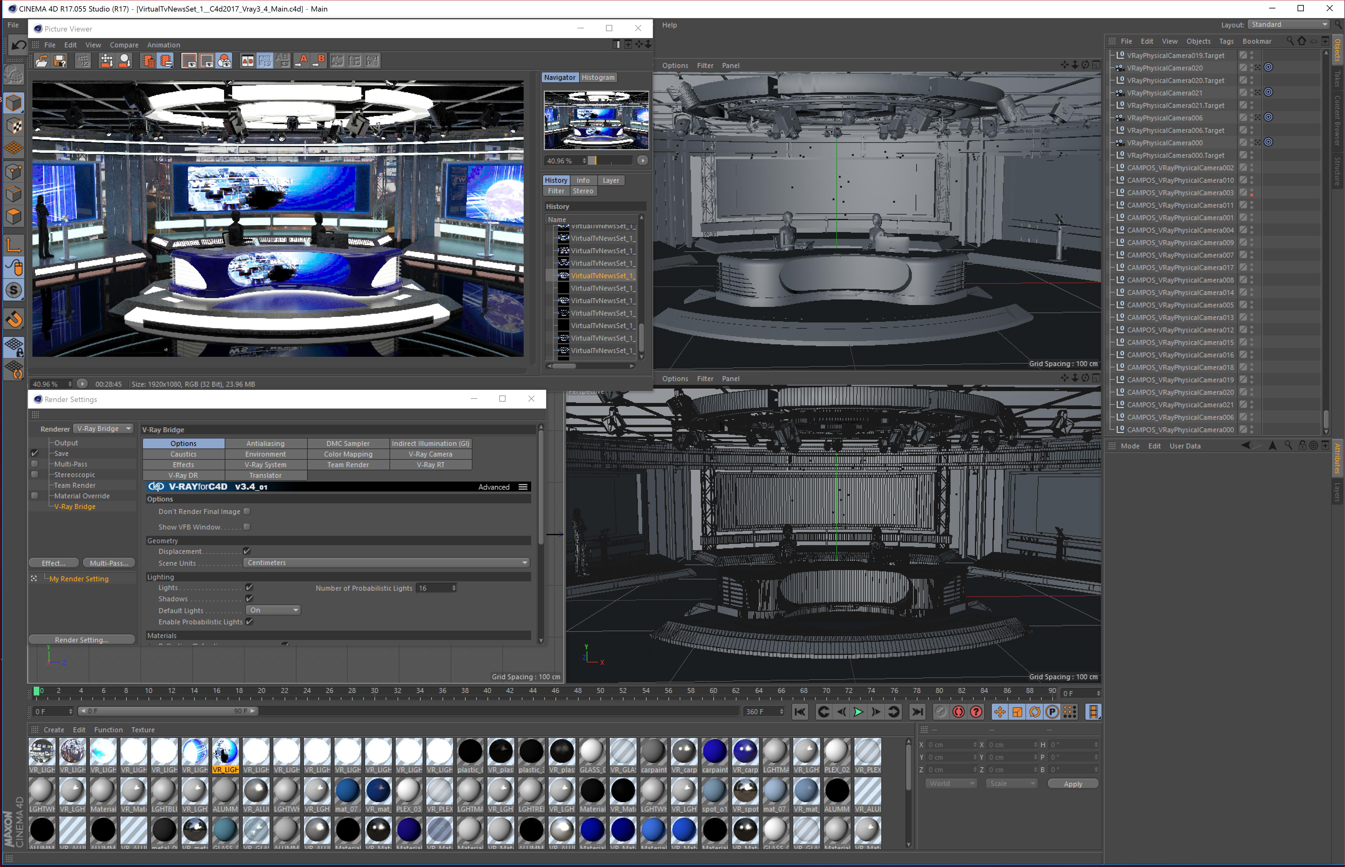 Virtual TV Studio News Sets Collection 7