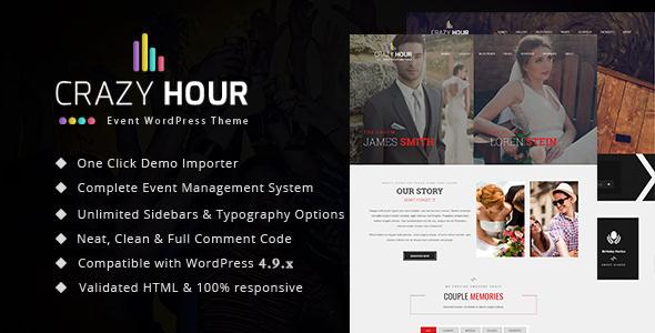 Crazy Hour - Event Management WordPress Theme - Events Entertainment