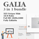 Galia Bundle 3 in 1 Keynote Template - GraphicRiver Item for Sale