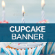 Festive Cupcakes Banner