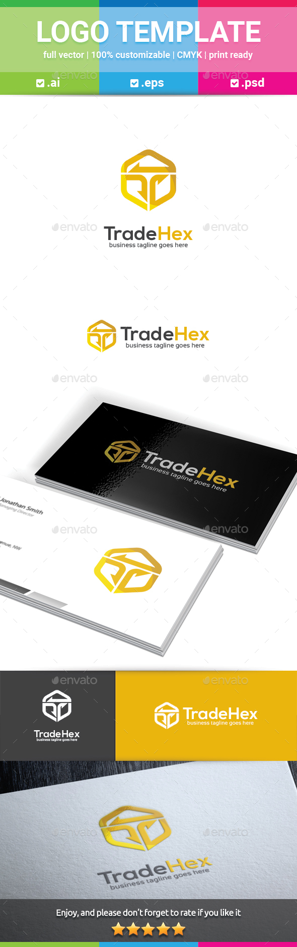 Trade Hex Letter T Logo - Letters Logo Templates