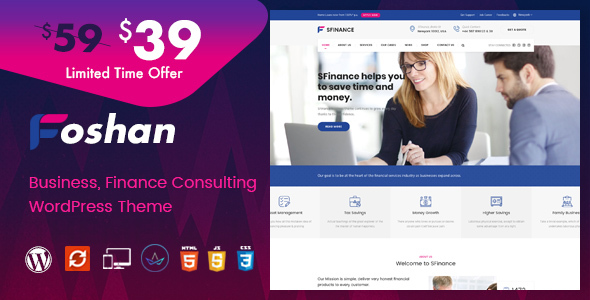 Foshan - Finance, Consulting Business WordPress Theme
