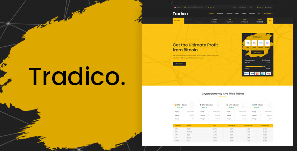 Tradico - Bitcoin Crypto Currency HTML Template