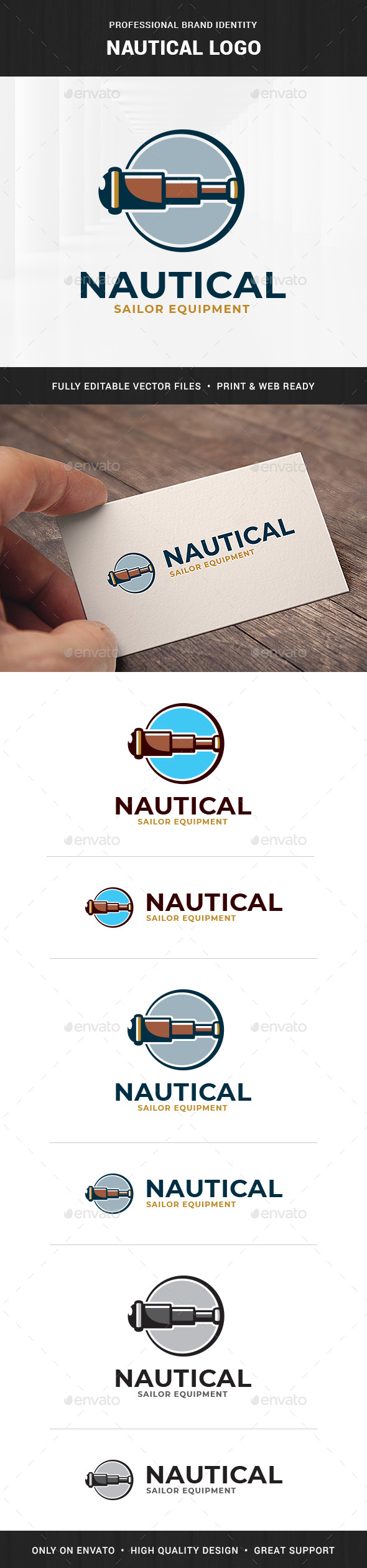Nautical Logo Template - Objects Logo Templates