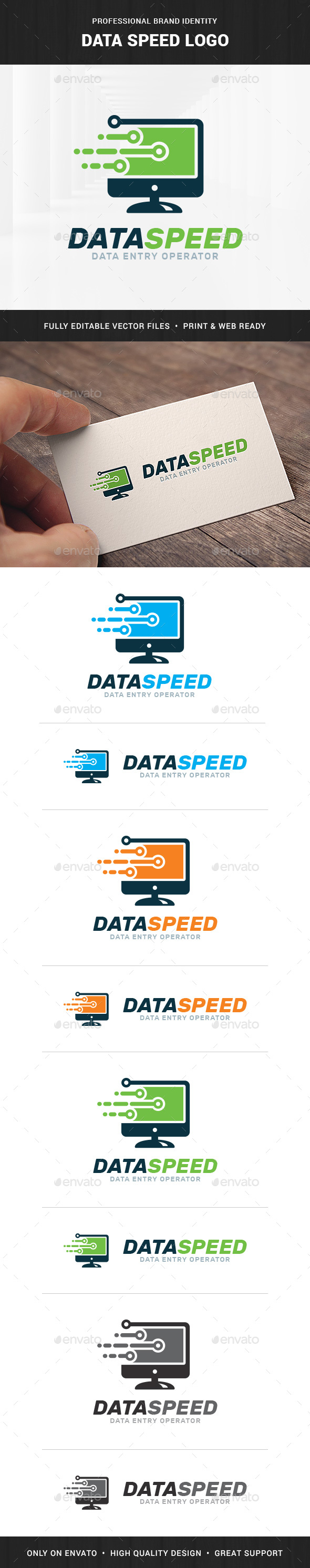 Data Speed Logo Template - Objects Logo Templates