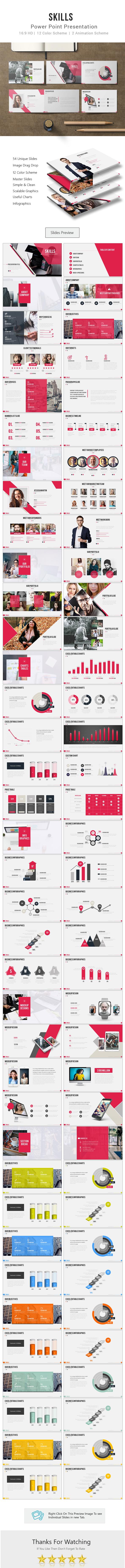 Skills Power Point Presentation - Business PowerPoint Templates