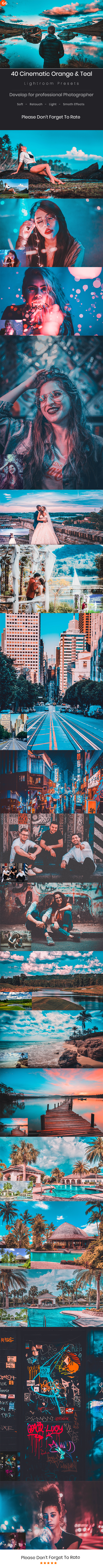 40 Cinematic Orange & Teal Look Lightroom Preset V4 - Cinematic Lightroom Presets