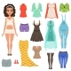 Flat Vector Set of Womens Clothes Items - GraphicRiver Item for Sale