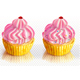 Two Pink Cupcakes - GraphicRiver Item for Sale