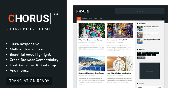 Chorus - Blog and  Magazine Ghost Theme - Ghost Themes Blogging