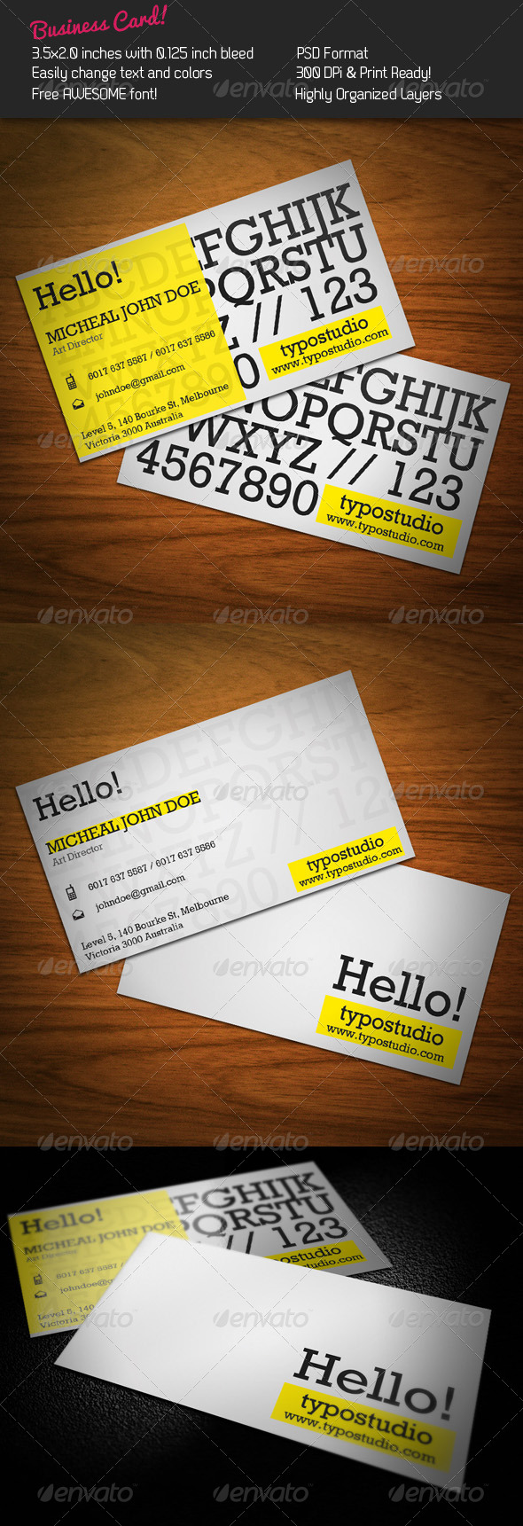 Alphabet Business Card - Creative Business Cards