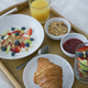 Healthy assorted breakfast served on tray - PhotoDune Item for Sale