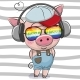 Pig with Sun Glasses - GraphicRiver Item for Sale