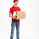 Handsome young delivery man with parcel post box - PhotoDune Item for Sale