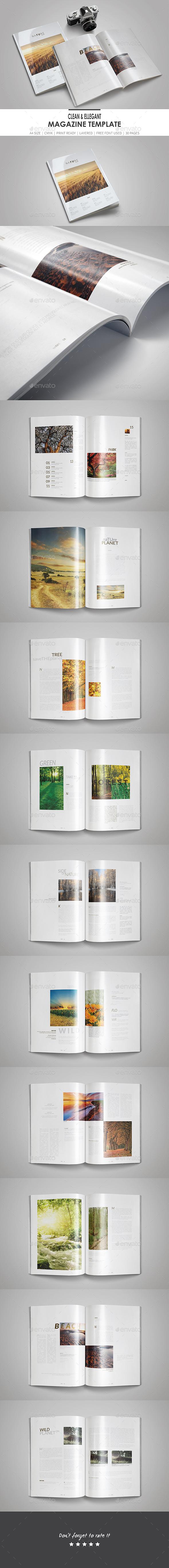 Clean & Elegant Magazine Template