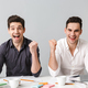 Handsome two emotional young business men - PhotoDune Item for Sale