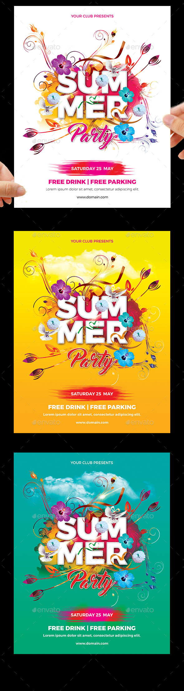 summer party flyers by germanxpert graphicriver